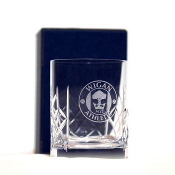 Crested Whiskey Glass